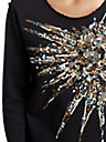 WOMENS RAW EDGE SEQUIN STARBURST TOP