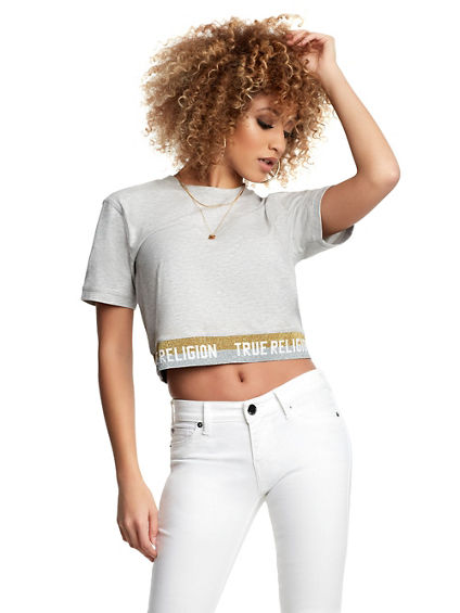 WOMENS TRUE TAPE CROP TOP
