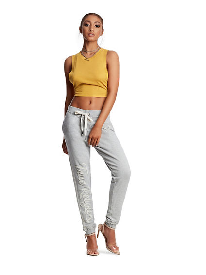WOMENS RAW EDGE TERRY JOGGER