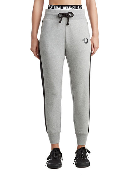 WOMENS STRIPED LOGO JOGGER