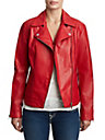 WOMENS MOTO VEGAN LEATHER JACKET