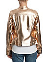 WOMENS METALLIC MOTO JACKET