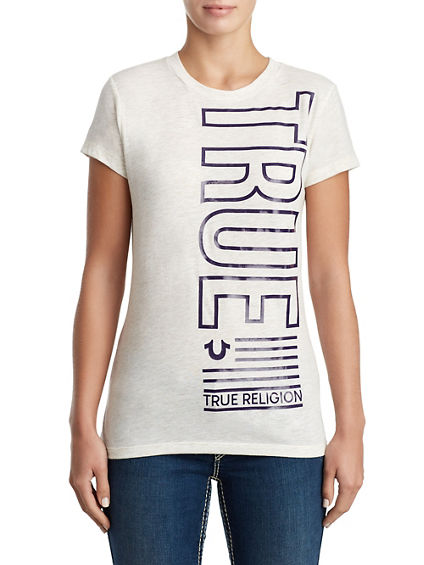 WOMENS METALLIC TRUE NATION TEE