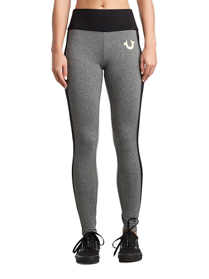WOMENS HIGH WAIST METALLIC LOGO LEGGING