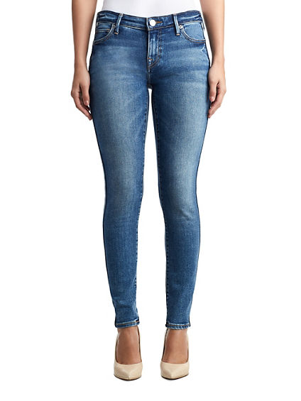 WOMENS DOUBLE STITCH HALLE SUPER SKINNY JEAN