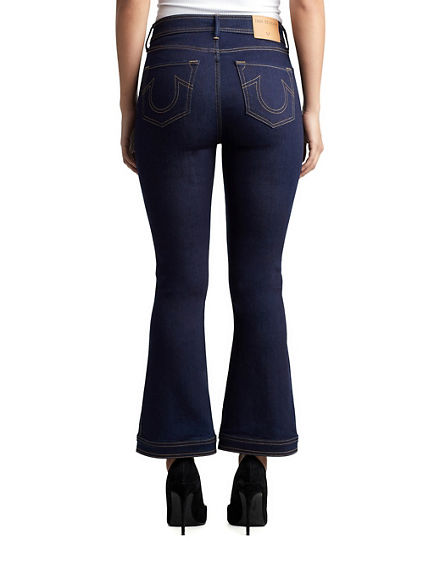 WOMENS HIGH RISE CROPPED NIKKI FLARE JEAN