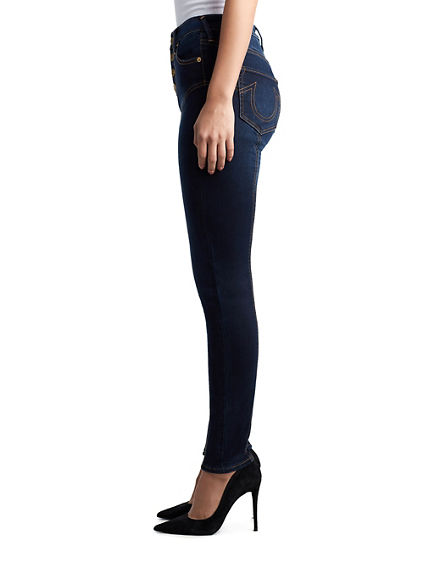 WOMENS CORSET HIGH RISE HALLE SUPER SKINNY JEAN