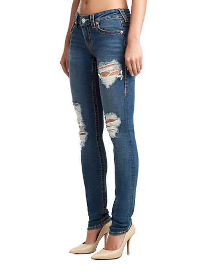 WOMENS DESTROYED BIG T STELLA SKINNY JEAN