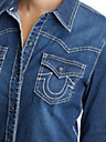 WOMENS CLASSIC BOYFRIEND DENIM SHIRT