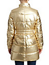 WOMENS LONGLINE METALLIC PUFFER COAT