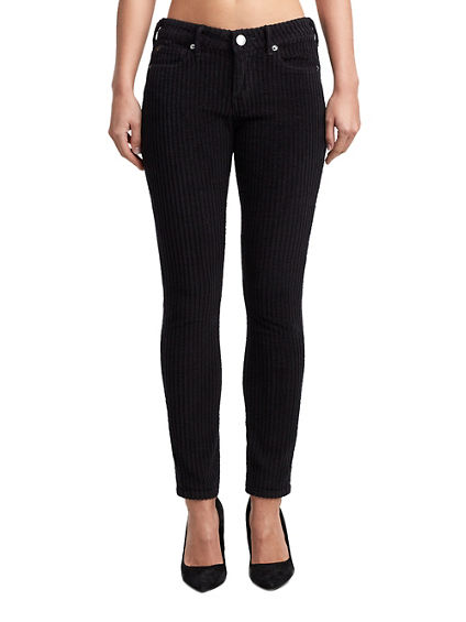 WOMENS CORDUROY HALLE SUPER SKINNY PANT
