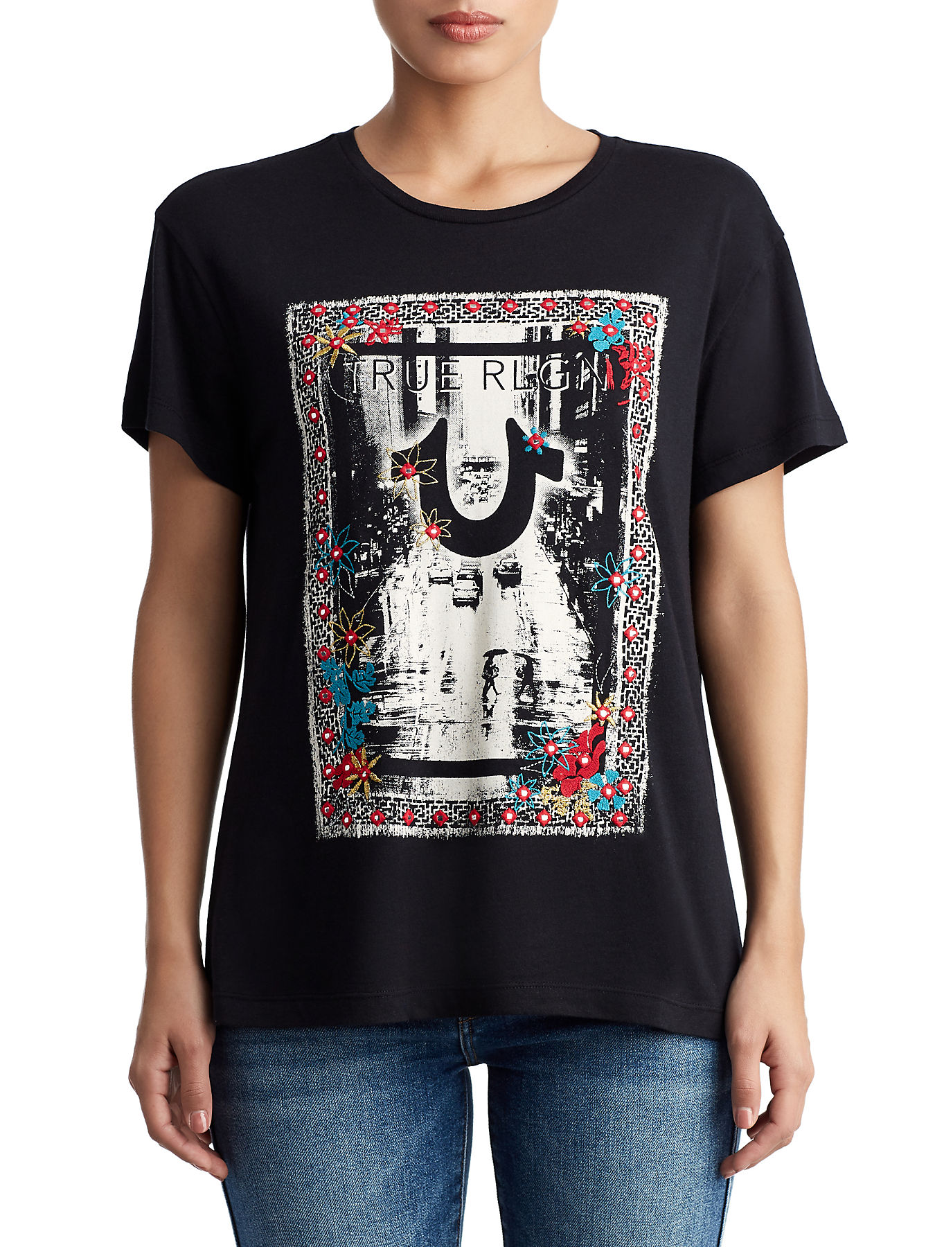 c459d619 WOMENS FLORAL CITY GRAPHIC TEE