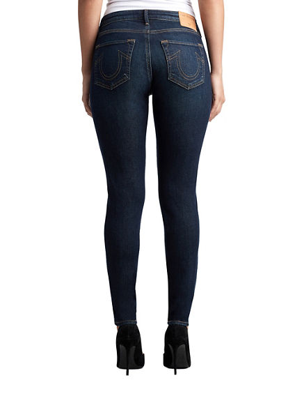 WOMENS DOUBLE STITCH JENNIE CURVY SKINNY JEAN