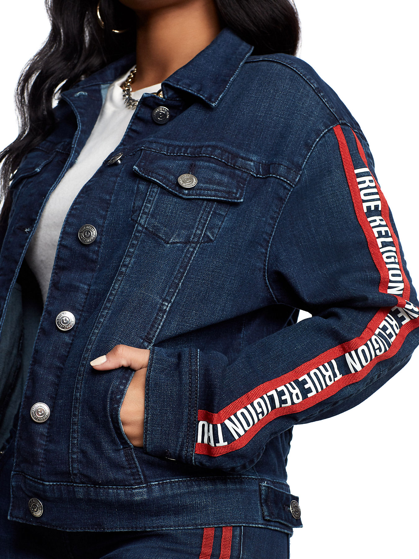 6dae826d24d LOGO STRIPE TRUCKER JACKET