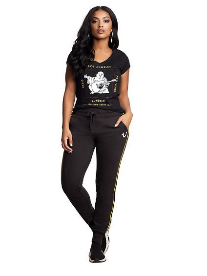 WOMENS CITY BUDDHA ROUND V TEE