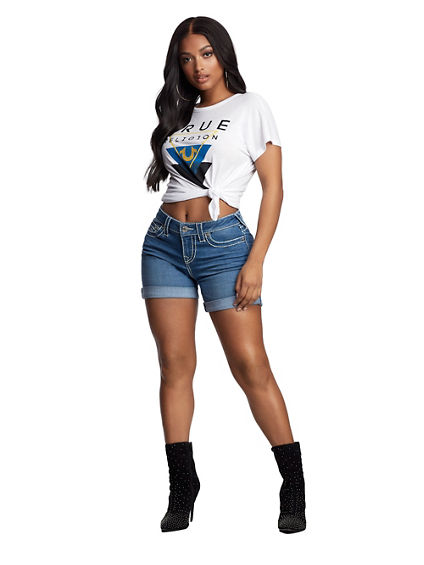 BACK CUTOUT GRAPHIC TEE