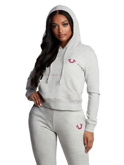 WOMENS CRYSTAL BUDDHA PULLOVER HOODIE