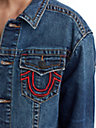 WOMENS TR X MANCHESTER UNITED EMBROIDERED DENIM TRUCKER JACKET