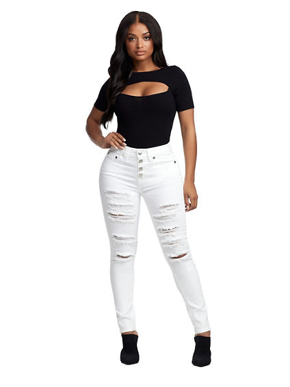 HALLE HIGH RISE ANKLE JEAN