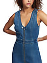 DENIM ZIP BODYCON DRESS