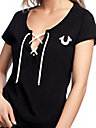 HORSESHOE LACE UP TEE