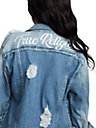 WOMENS LACED TRUCKER JEAN JACKET