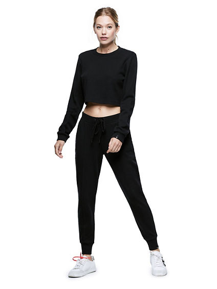 LONG SLEEVE CROP SHIRT