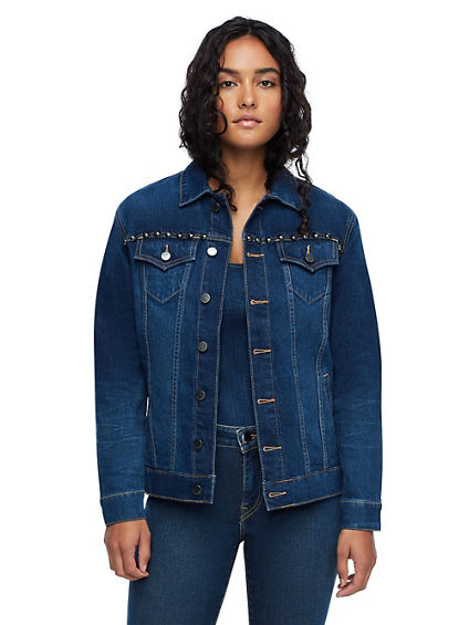 CHAIN FRINGE DENIM JACKET