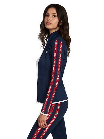 PERFORMANCE STRIPE ZIP UP