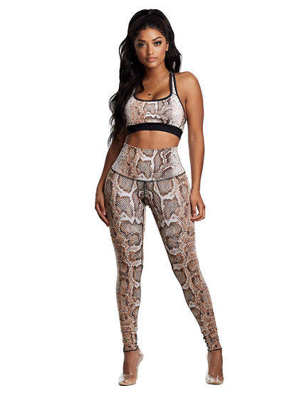 BODIED HIGH WAISTED PYTHON LEGGING
