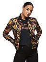 ALLOVER PRINT BOMBER JACKET