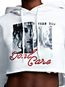 DON'T CARE CROP HOODIE