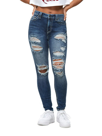 JENNIE HIGH RISE BIG T JEAN