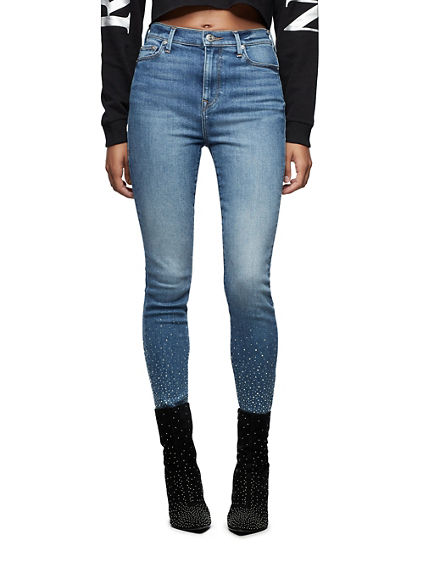 CAIA ULTRA HIGH RISE CRYSTAL JEAN