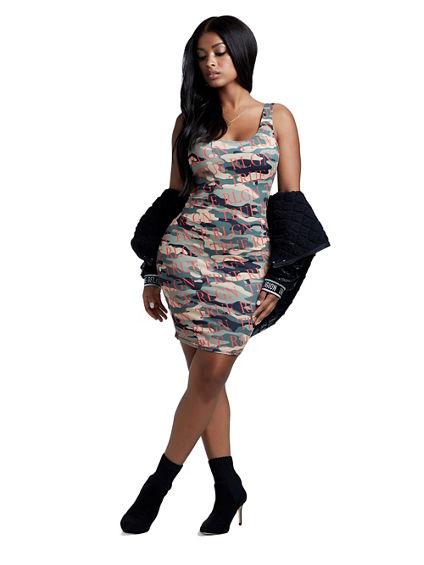 CAMO LOGO DRESS