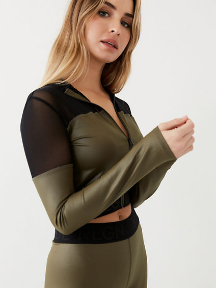 PERFORMANCE MESH CROP JACKET