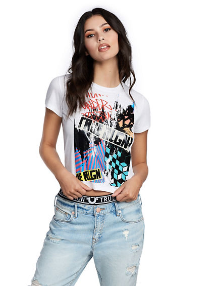 GRAFFITI CROP TEE