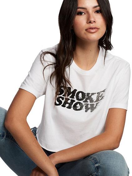 SMOKE SHOW CROP TEE