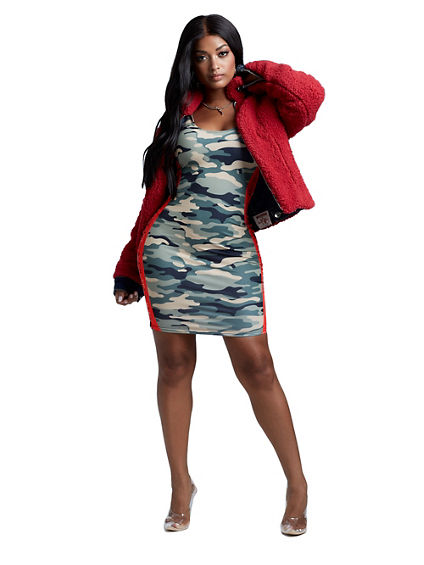 CAMO RED BAND DRESS
