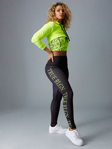 BODIED NEON CROP HOODIE
