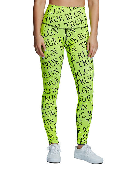 NEON REPEAT LOGO LEGGING