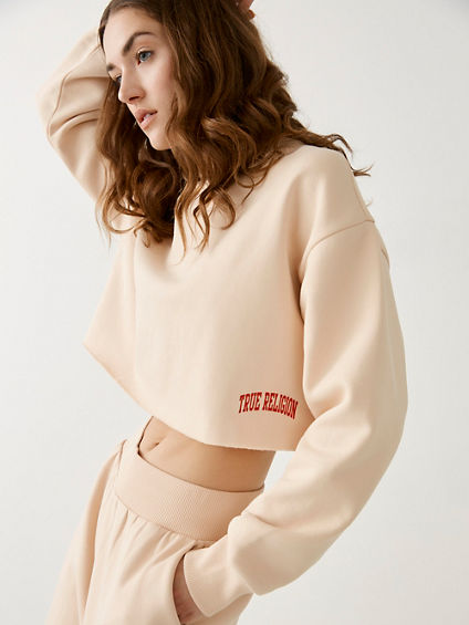 MOCK CROP SWEATSHIRT