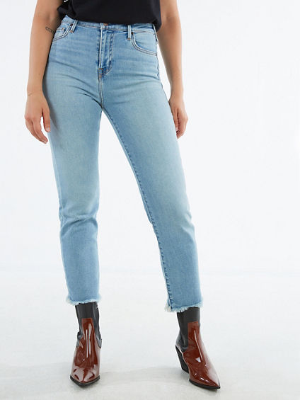 HIGH WAISTED FRAY HEM JEAN
