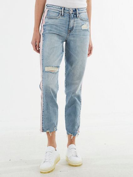 HIGH WAIST CROP STRAIGHT JEAN