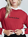 IM ON THE RISE LONG SLEEVE CROP SHIRT