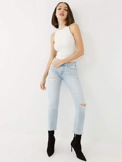 JENNIE CROP STRAIGHT JEAN