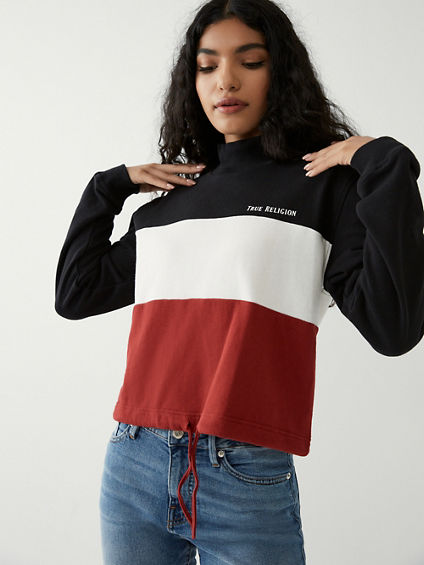 COLOR BLOCK SWEATSHIRT