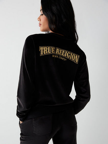VELOUR LOGO SWEATSHIRT