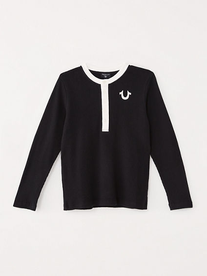 BOYS THERMAL HENLEY