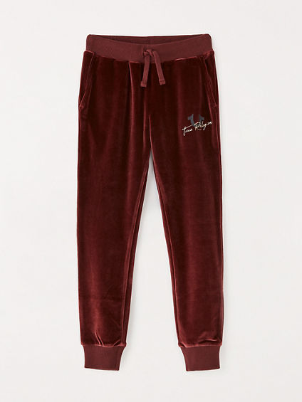 GIRLS VELOUR JOGGER